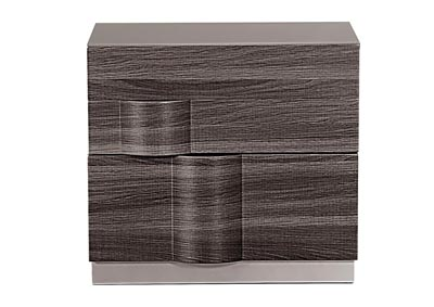 Adel Zebra Wood/Grey Nightstand