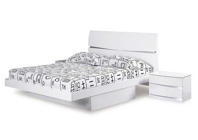 Aurora White King Bed