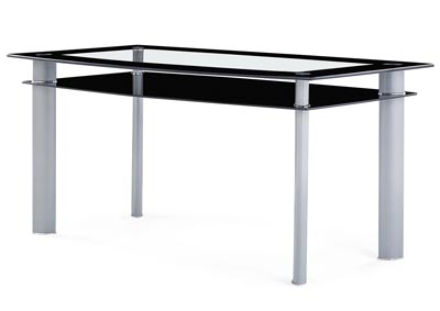 Black/Silver Dining Table
