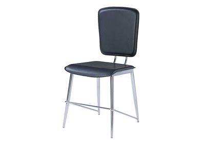 Black & Chrome Dining Chair (Set of 2)