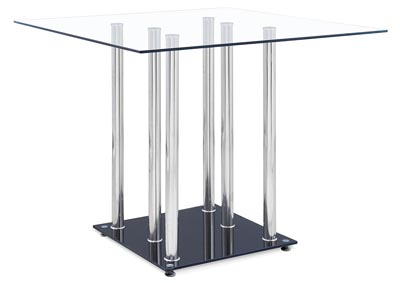Clear/Black Bar Table