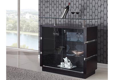 Wenge Bar Cabinet,Global Furniture USA