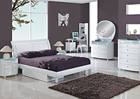 Emily White Twin Bed