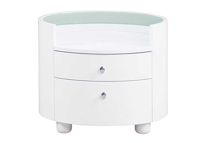 Emily/Evelyn White Night Stand