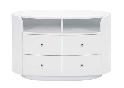 Emily/Evelyn White Entertainment Unit,Global Furniture USA