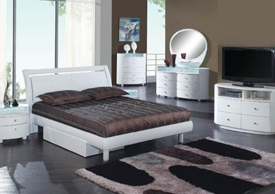 Emily White Queen Bed