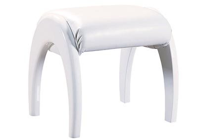 Emily/Evelyn White Youth Stool,Global Furniture USA