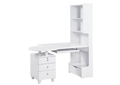 Emily/Evelyn White Study Desk,Global Furniture USA