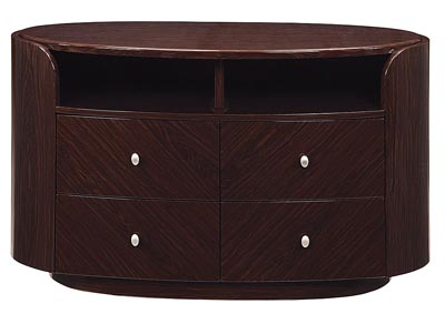 Emily/Evelyn Wenge Entertainment Unit,Global Furniture USA