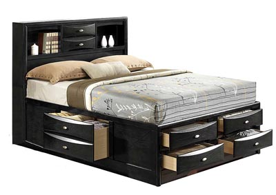 Linda Black Queen Bed