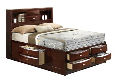 Linda Merlot Queen Bed
