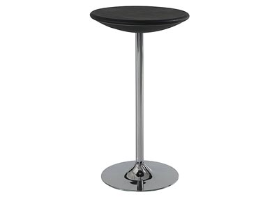 Black Bar Table w/Chrome Base