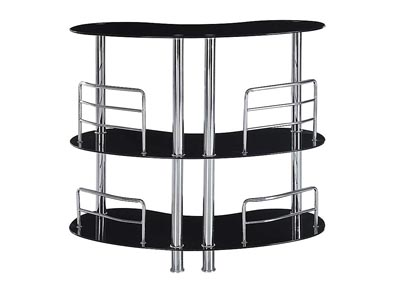 Black Bar Table w/Metal Base