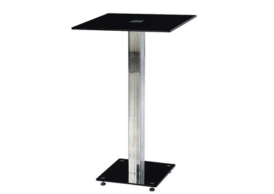 Black/Chrome Bar Table