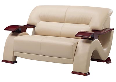 Cappucino Bonded Leather Loveseat