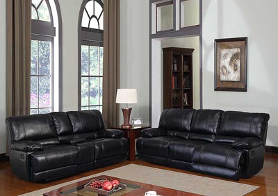 Kelton Black Reclining Sofa & Loveseat