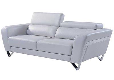 Natalie Light Gray Sofa W/Headrest Function ...
