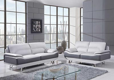 Natalie Light Gray Sofa, Loveseat & Chair