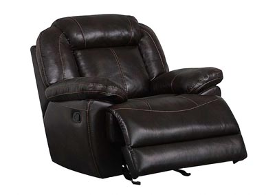 Brown Glider Recliner