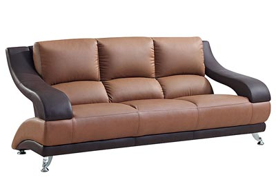 Brown Leather Sofa,Global Furniture USA