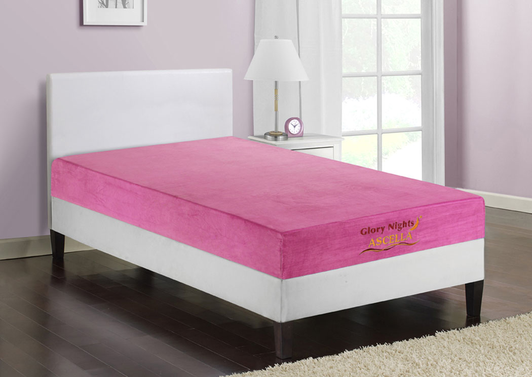 American Furniture Design Ascella Pink Twin Mattress