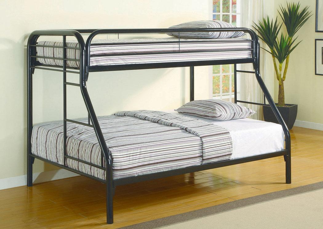 Furniture ville bronx ny black twin full bunkbed for Furniture ville