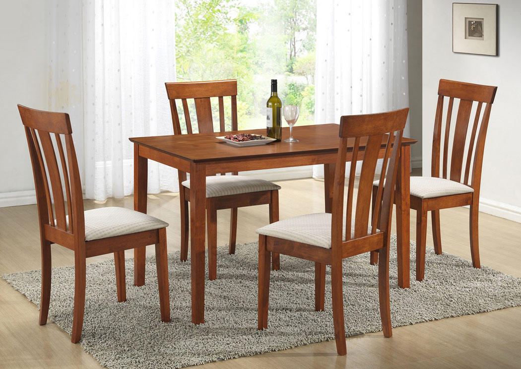 Best Buy Furniture And Mattress Maple Table W 4 Side Chairs