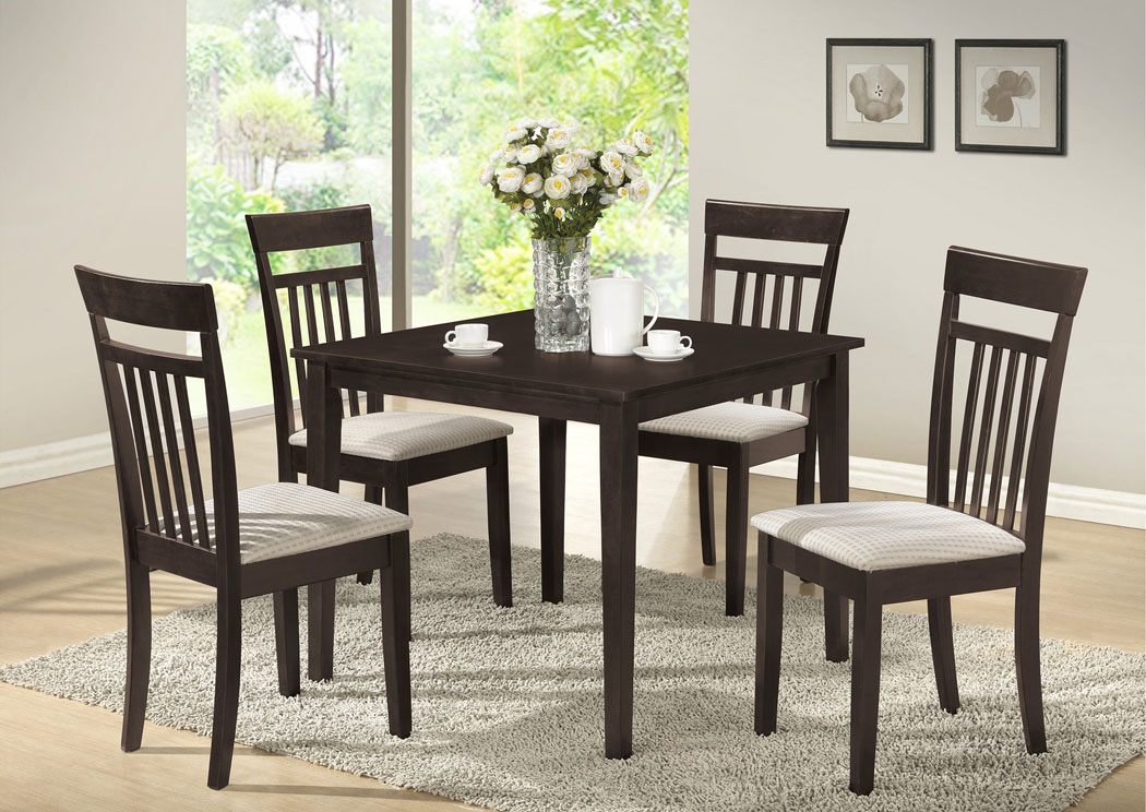 Best Buy Furniture And Mattress Wenge Table W 4 Side Chairs