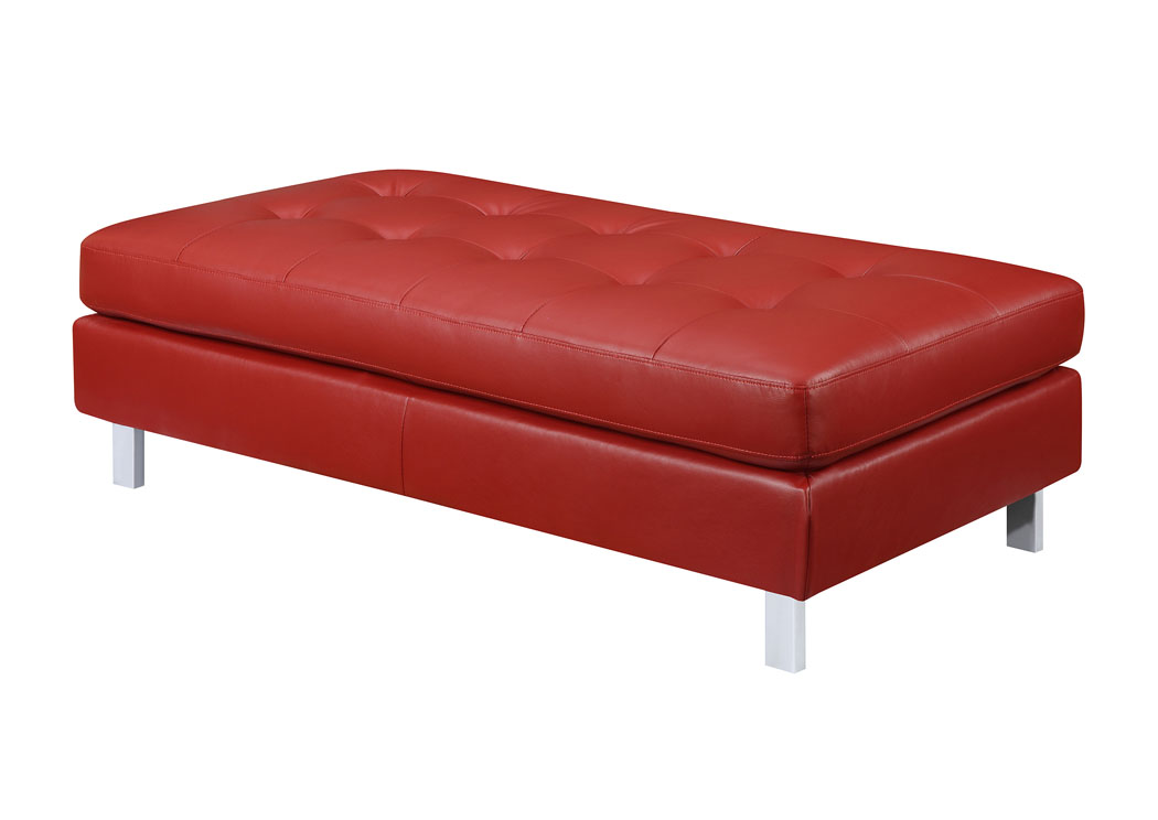 Family Discount Furniture Red Oversized Ottoman