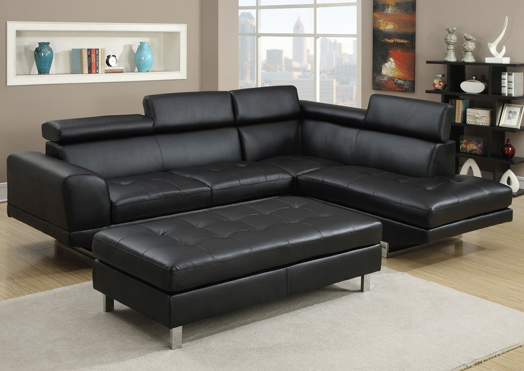 Furniture ville bronx ny black sectional for Black front room furniture