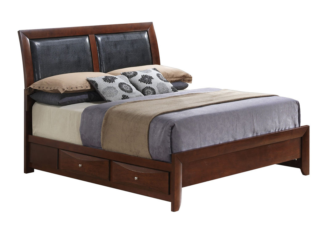 Furniture ville bronx ny cherry queen storage bed for Furniture ville