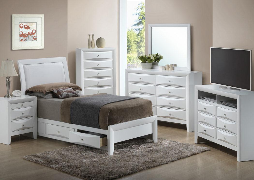 Levi 39 S Discount Furniture Vineland NJ White Full Storage Bed Dresser A
