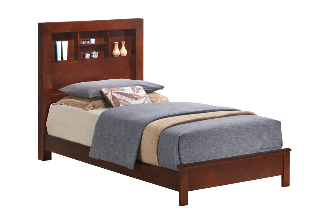 Best Buy Furniture And Mattress Cherry Full Bed W Bookcase Headboard