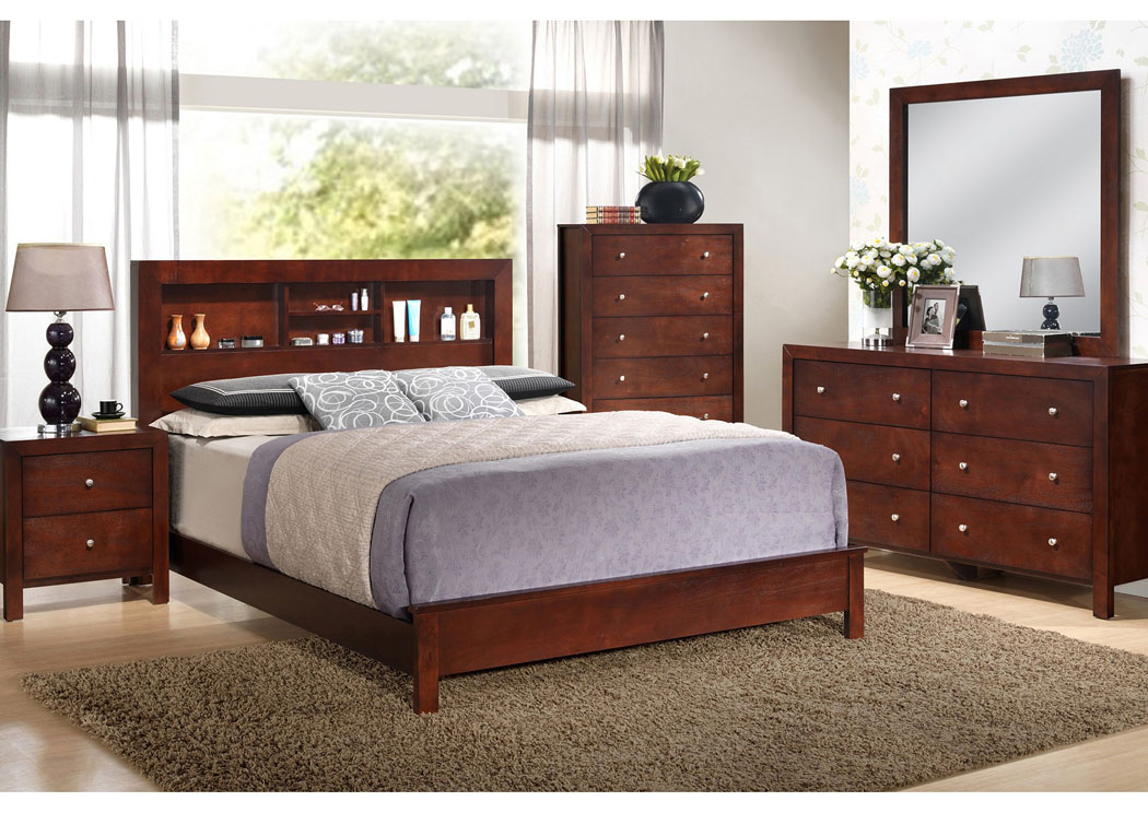 Furniture Direct Bronx Manhattan New York City Ny Cherry King Bed W Bookcase Headboard