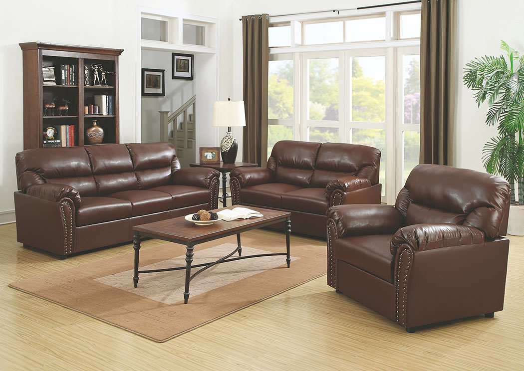 Best Buy Furniture And Mattress Brown Bonded Leather Sofa