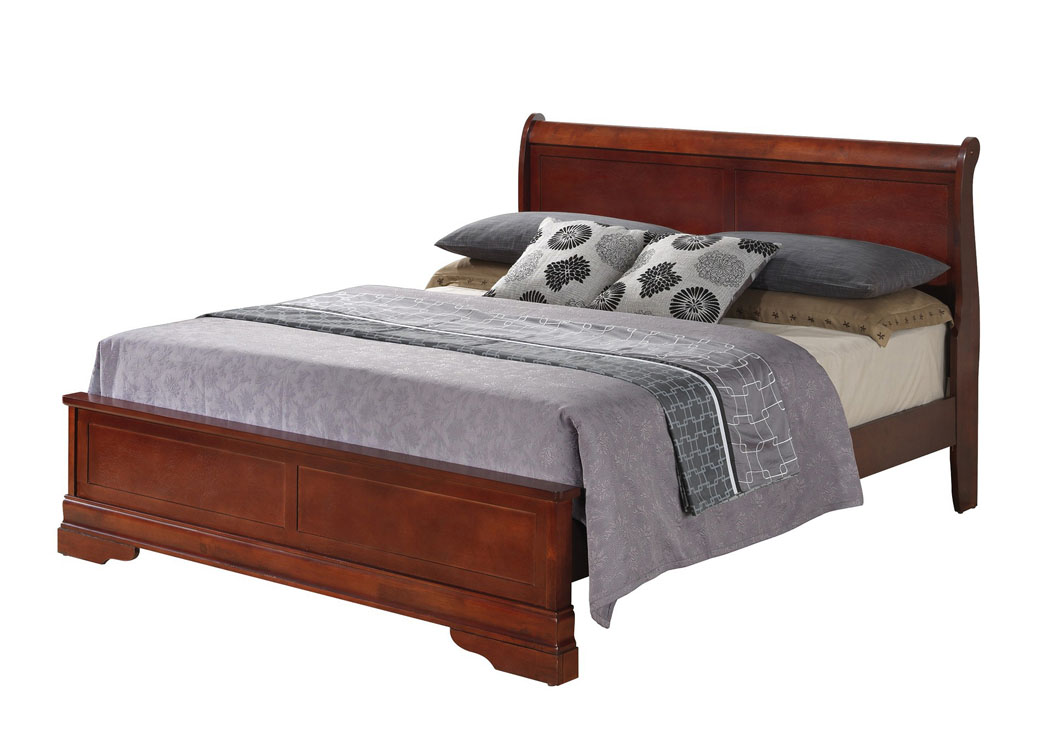 Lefty Furniture Cherry Queen Low Profile Bed