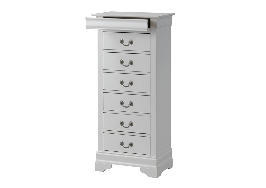 White Lingerie Chest,Glory Furniture