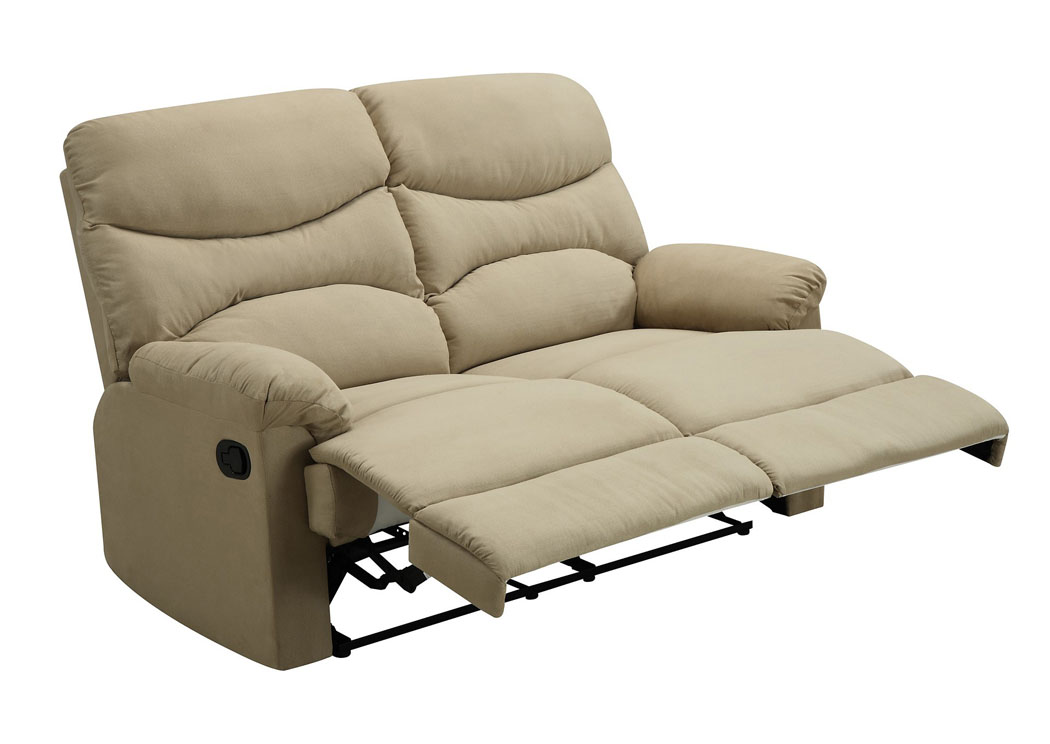 Best Buy Furniture And Mattress Beige Double Reclining Loveseat