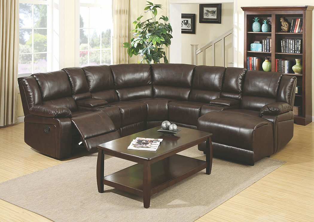 Best Buy Furniture And Mattress Chocolate Bonded Leather Sectional