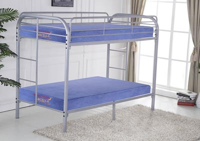 Gray Twin/Twin Bunkbed
