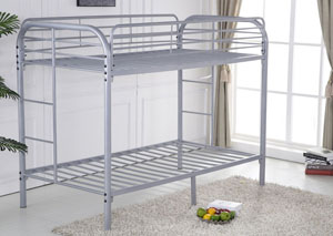 Gray Twin/Twin Bunkbed w/ Bracket