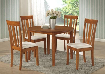 Maple Table w/ 4 Side Chairs,Glory Furniture