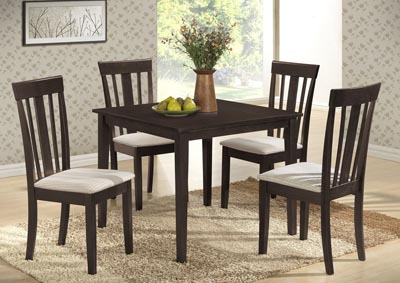 Wenge Table w/ 4 Side Chairs