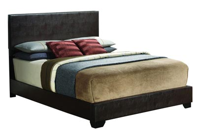 Cappuccino Queen Upholstered Bed