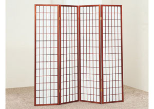 Cherry 4 Panel Shoji Screen