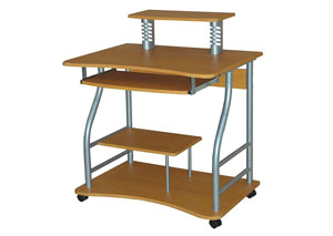 Beech Computer Cart on Casters