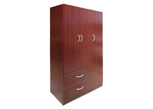 Mahogany 3 Door Wardrobe