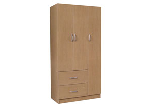Maple 3 Door Wardrobe