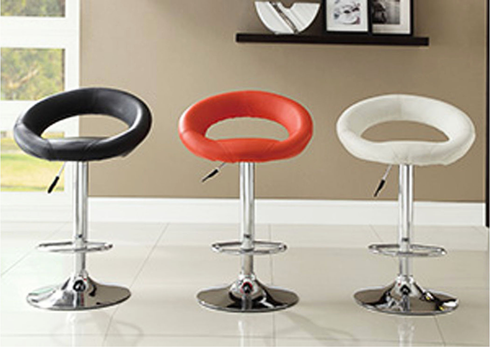 Ride Airlift White Swivel Stool,Homelegance