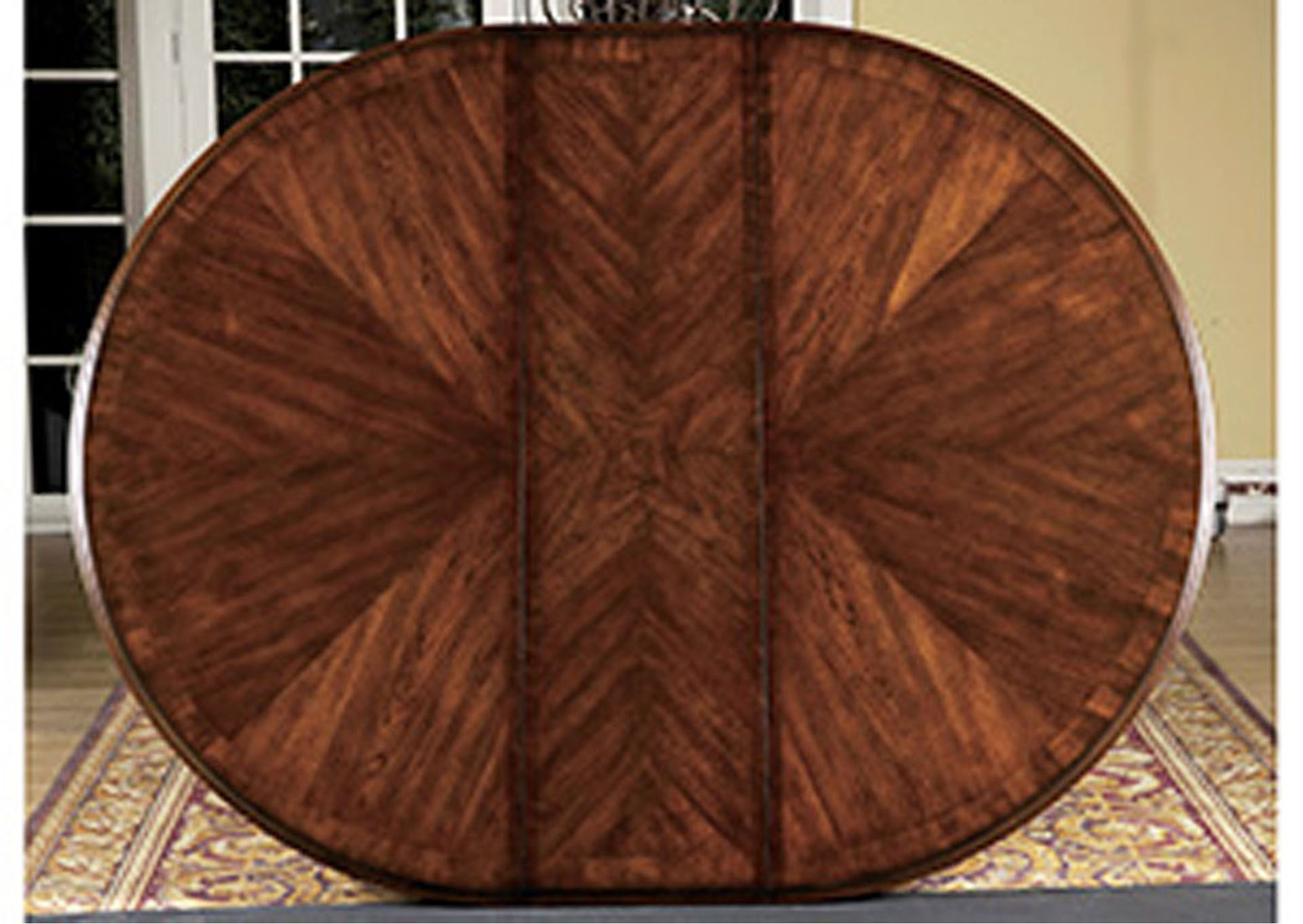 Prenzo Warm Brown Round/Oval Dining Room Table,Homelegance